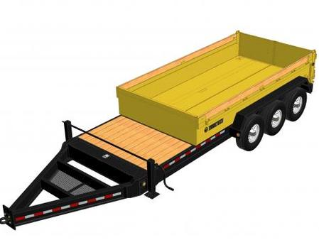 L370HD - 18' Triple Axle Dump Trailer